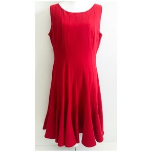 Calvin Klein Fit & Flare Red Dress Size 12
